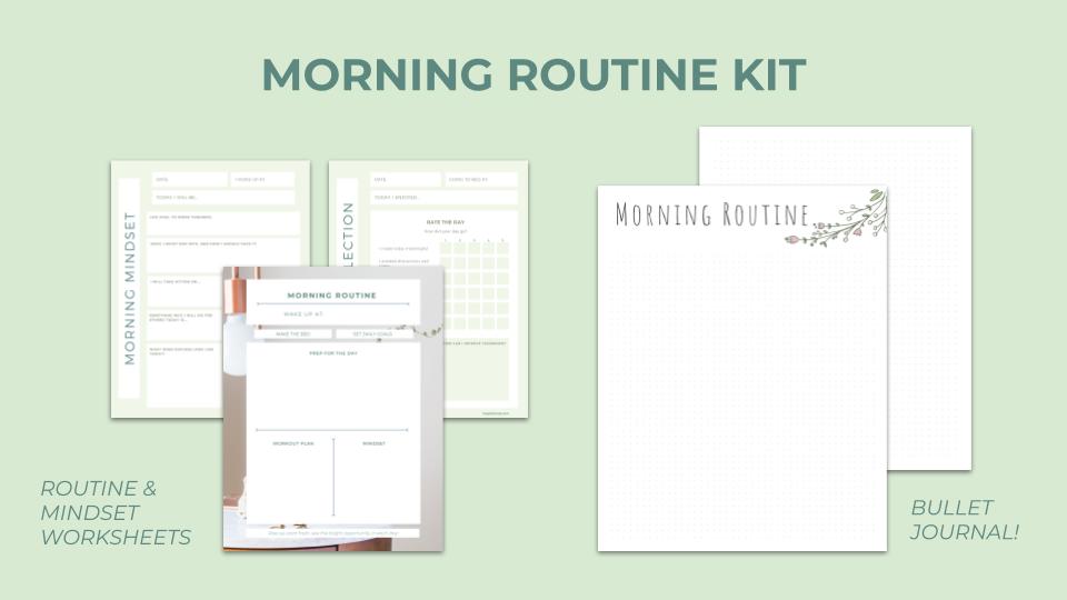 Morning routine kit