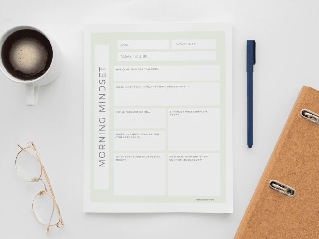 Morning Routine Kit - Morning Mindset Sheets